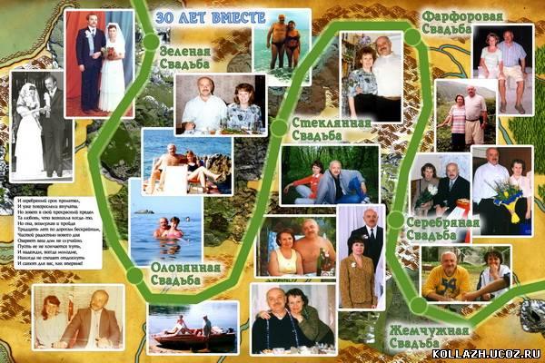 Плакаты на жемчужную свадьбу своими руками